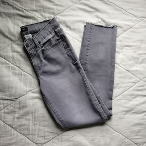 Grey skinny Jean with raw hem 24 | Joe Fresh
